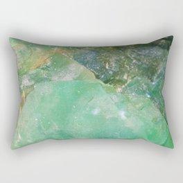 Absinthe Green Quartz Crystal Rectangular Pillow