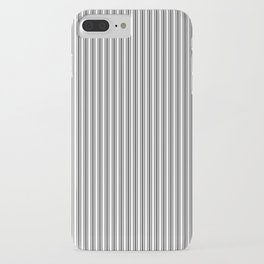 Trendy French Black and White Mattress Ticking Double Stripes iPhone Case