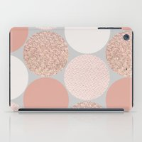 rose gold iPad Cases featuring Rose Gold Dots by Georgiana Paraschiv
