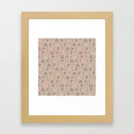 Retro asian pattern Framed Art Print
