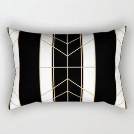 Black & Gold - Art Deco Rectangular Pillow