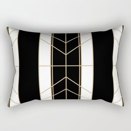 Black & Gold - Art Deco Rectangular Pillow