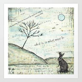 Watership Down Encaustic Art Print