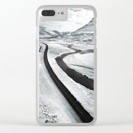 westfjords aerial view Clear iPhone Case