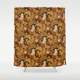 Mushroom Stitch Shower Curtain