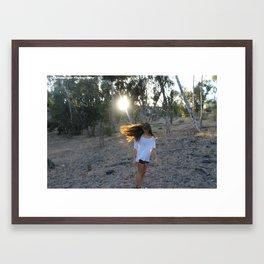Hair Flip Framed Art Print
