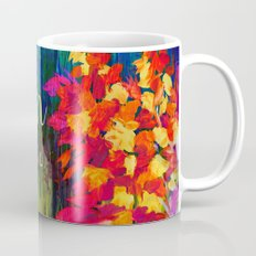 BLOOM WHERE YOU'RE PLANTED Floral Garden Typography Colorful Rainbow Abstract Flowers Inspiration Mug