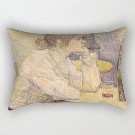 "Henri de Toulouse-Lautrec ""The Hangover (Suzanne Valadon)"" Rectangular Pillow"