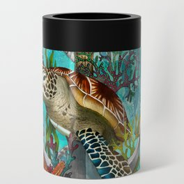 Turtle and Sea Can Cooler
