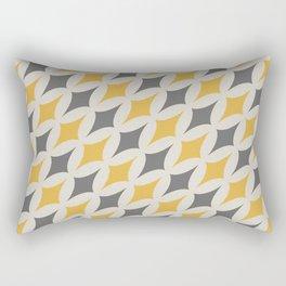Diamonds in Grey & Yellow Rectangular Pillow