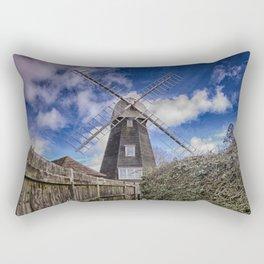 Footpath To Field Mill Rectangular Pillow