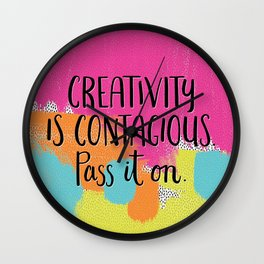 Creativity is Contagious Wall Clock