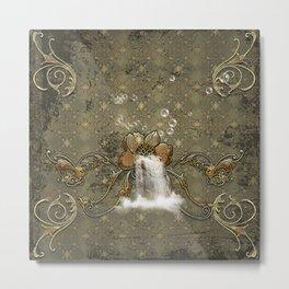 Beautiful flower with waterfall Metal Print