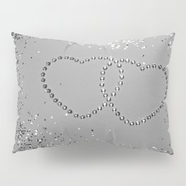 In Love Sparkling Glitter Hearts #3 (Faux Glitter) #silver #decor #art #society6 Pillow Sham