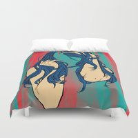cancer Duvet Covers featuring Cancer by Rendra Sy