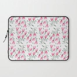 Watercolor pink flowers Laptop Sleeve