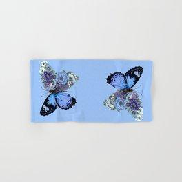 Blue Butterfly in Bloom Hand & Bath Towel