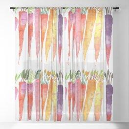 Rainbow Carrot Magic Sheer Curtain