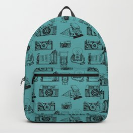Camera Collection- Turquoise Backpack