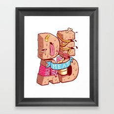 Dead meat Framed Art Print