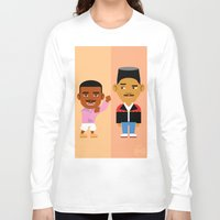 fresh prince Long Sleeve T-shirts featuring The Fresh Prince by Evan Gaskin