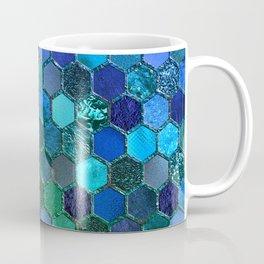 Blue & green geometric hexagonal elegant & luxury pattern Coffee Mug