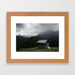 Corvara Cabin Framed Art Print