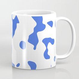 Large Spots - White and Royal Blue Coffee Mug