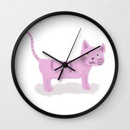 Pinky Cat Wall Clock
