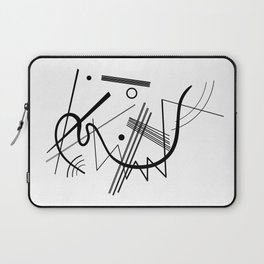 Kandinsky - Black and White Abstract Art Laptop Sleeve