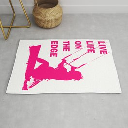 Live Life On The Edge Neon Pink Kitebeach Rug