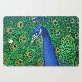 Peacock Cutting Board