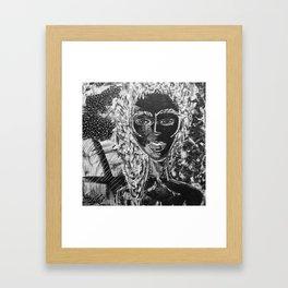 I am she. Framed Art Print