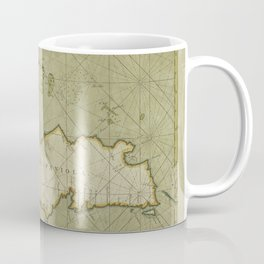 A chart of the Iland of HISPANIOLA with the windward passage from Jamaica betwene ye East end of Cuba and the west end of Hispaniola Coffee Mug