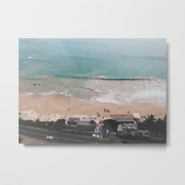 Aerial Mirissa Beach, Sri Lanka Metal Print