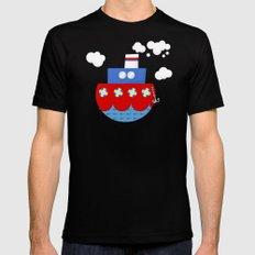 little boat Black MEDIUM Mens Fitted Tee