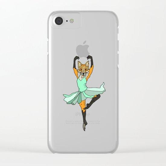 Fox Ballerina Tutu Clear iPhone Case