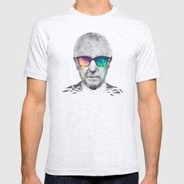 Albert Hofmann - Psychedelic Polygon Low Poly Portrait T-shirt
