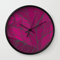 into the wild Wall Clocks featuring Wild by k_c_s
