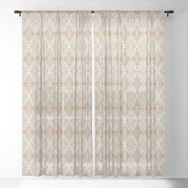 SAHARA GEO GOLD Sheer Curtain