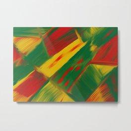 Natural Color Play Digital Oil Painting Metal Print