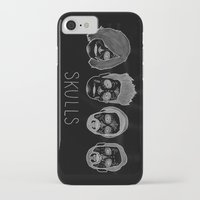 bastille iPhone & iPod Cases featuring Bastille Skulls by wellsi