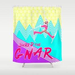 Shred the GNARski 01 Shower Curtain