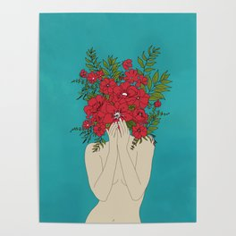 Blooming Red Poster