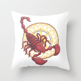 Scopion Throw Pillow