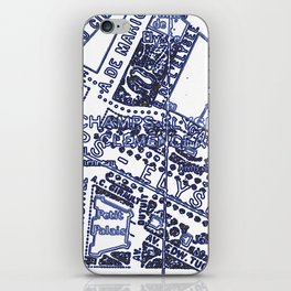 Blue Print Thoughts of Paris iPhone Skin