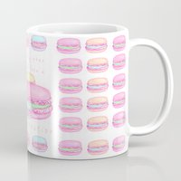 macaroon Mugs featuring Love Macaroon by Praillustration