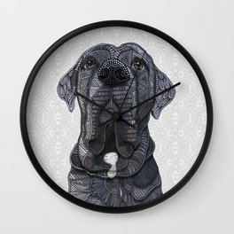 Chief the Mastiff Wall Clock