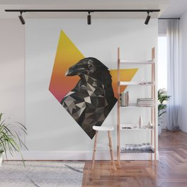 Low Poly Raven Wall Mural