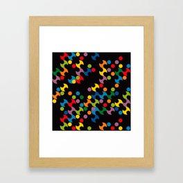 DOTS - polka 2 Framed Art Print
